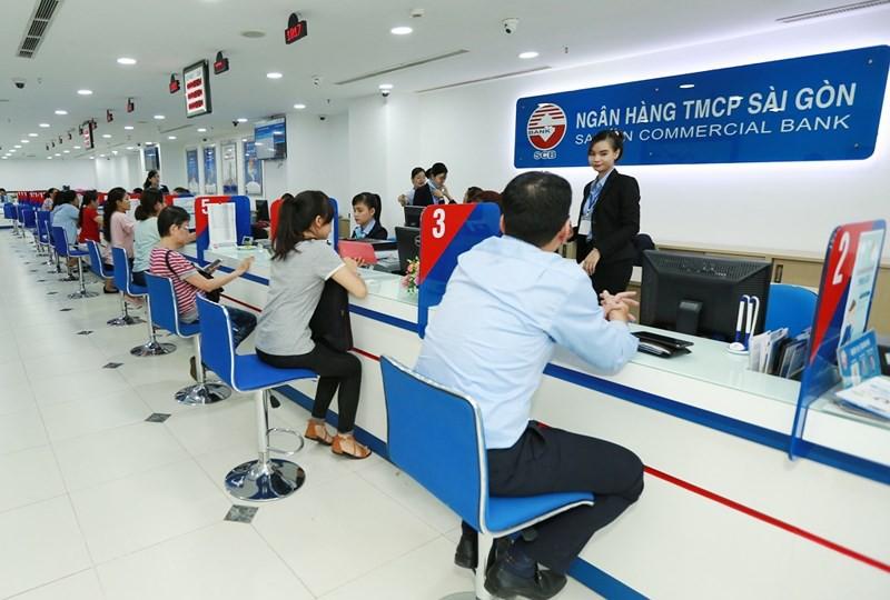 Hình ảnh giao dịch của ngân hàng SCB